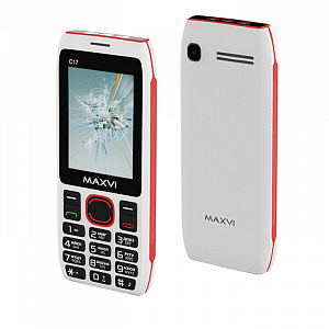 Maxvi C17 white-red